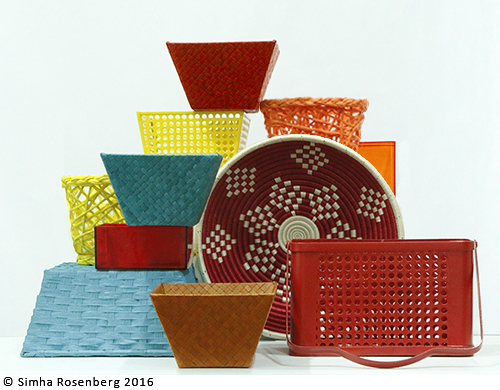 Colorful baskets illustrate Public Voice NY's nonprofit marketing retainer plans.