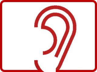Listening ear icon illustrates the discovery phase of Public Voice NY's approach to nonprofit marketing.