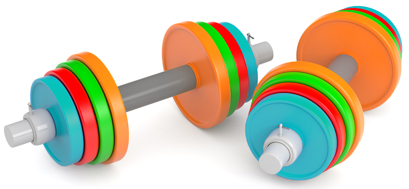 Colorful dumbbells illustrate that nonprofit knowledge matters, and NPO's can weigh in against false information.
