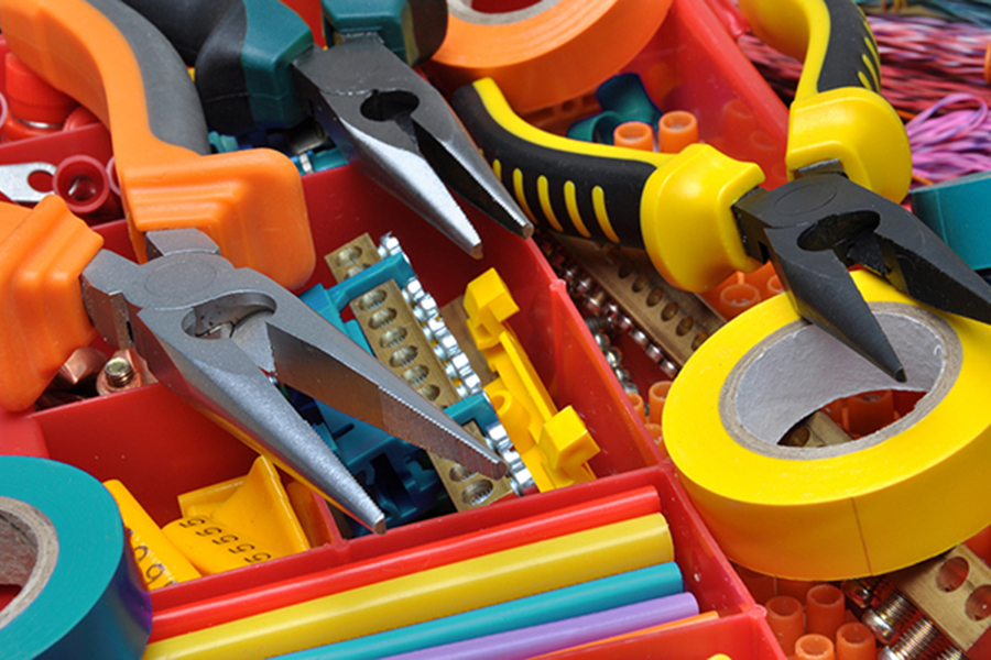 A photo of colorful electrical tools illustrates nonprofit marketing tools