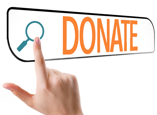 Image of a finger pushing online donate button illustrates importance of optimizing the Donate Button so websites drive online donations.