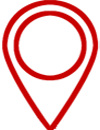 Red map icon illustrates the home location for Public Voice NY nonprofit marketing services.