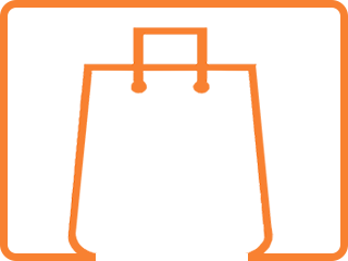 orange-shopping-bag-icon