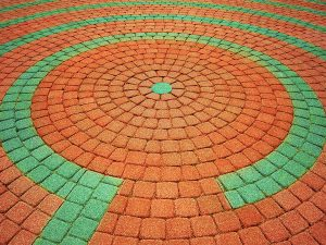 Colorful maze illustrates finding the right finding the right strategy for nonprofit communications services.