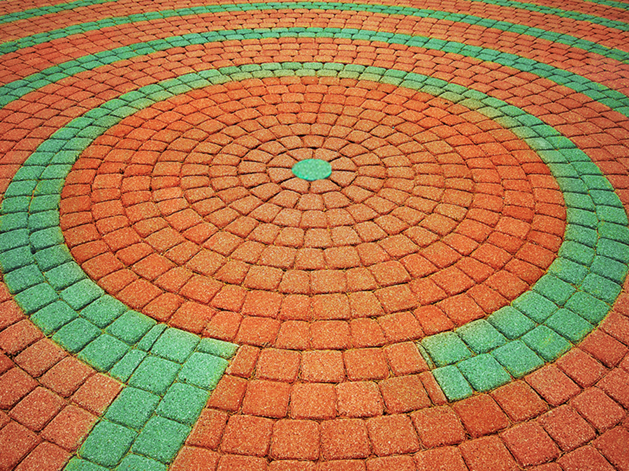 Colorful maze illustrates finding the right finding the right nonprofit branding and communications strategy.